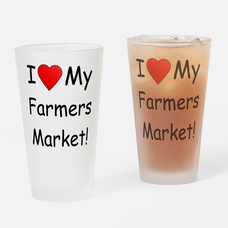 Heart Farmers Market Drinking Glass