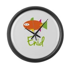 Enid is a Big Fish Large Wall Clock