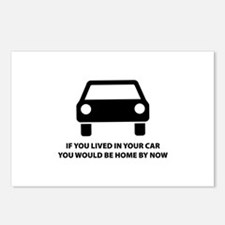 Live in your car Postcards (Package of 8)