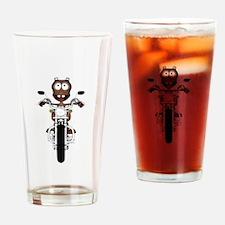 Alien Biker Drinking Glass
