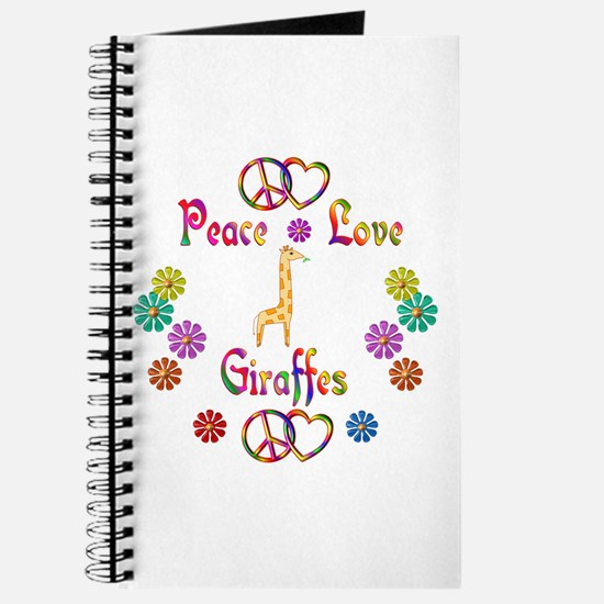 Peace Love Giraffes Journal