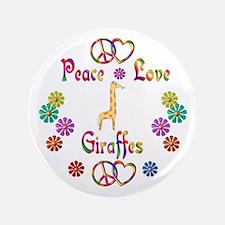 """Peace Love Giraffes 3.5"""" Button (100 pack)"""