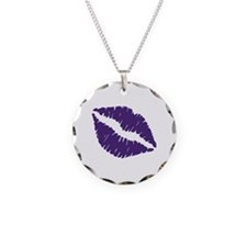 Kiss Necklace Circle Charm