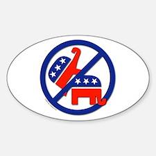Anti-Republican/Anti-GOP Oval Decal