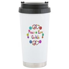 Peace Love Gerbils Travel Mug