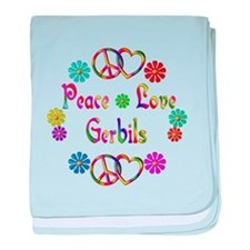 Peace Love Gerbils baby blanket