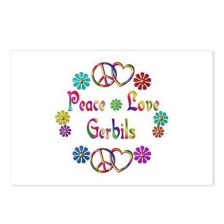 Peace Love Gerbils Postcards (Package of 8)