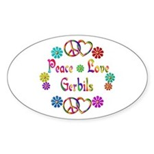 Peace Love Gerbils Decal