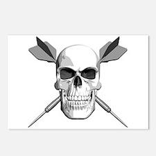 Darts Skull Postcards (Package of 8)