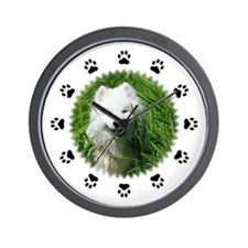 Samoyed W/Black Paws Wall Clock