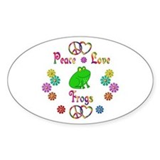 Peace Love Frogs Decal