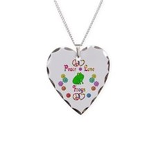 Peace Love Frogs Necklace