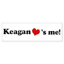 Keagan loves me Bumper Bumper Sticker