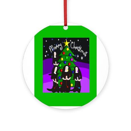 Catholic Nuns Christmas Ornament (Round)