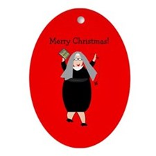 Catholic Nuns Christmas Ornament (Oval)