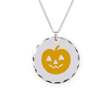 Cute Pumpkin Necklace Circle Charm