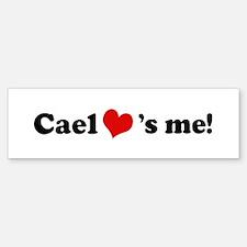 Cael loves me Bumper Bumper Bumper Sticker