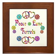 Peace Love Ferrets Framed Tile