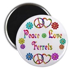 Peace Love Ferrets Magnet
