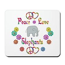 Peace Love Elephants Mousepad