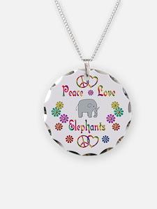 Peace Love Elephants Necklace