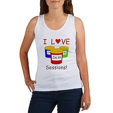 I Love Jam Sessions Women's Tank Top
