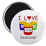 """I Love Jam Sessions 2.25"""" Magnet (10 pack)"""