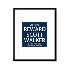 Reward Scott Walker Framed Panel Print