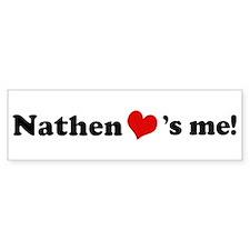 Nathen loves me Bumper Car Sticker