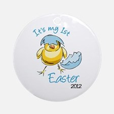 It's My First Easter '12 Ornament (Round)