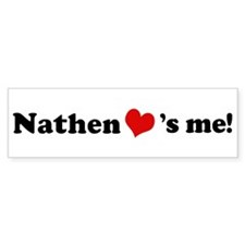 Nathen loves me Bumper Car Sticker