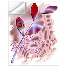 Cute Missy - Kenya Flag Wall Decal