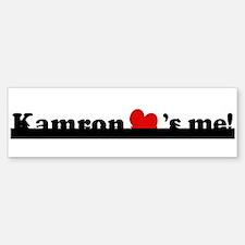 Kamron loves me Bumper Bumper Bumper Sticker