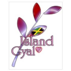 Island Gyal twig - Jamaica Poster