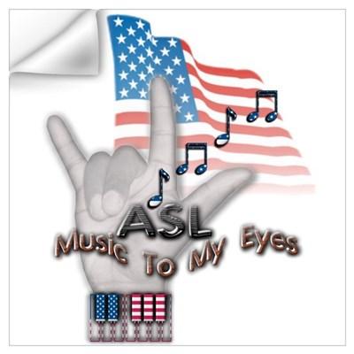 Music to my Eyes Wall Decal