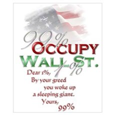 Occupy Wall St. Framed Print