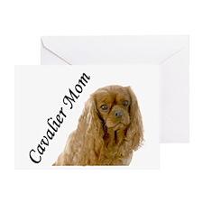 Cavalier Mom-Ruby Greeting Card