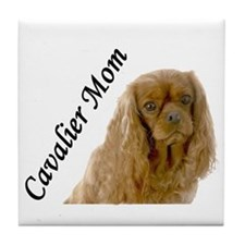 Cavalier Mom-Ruby Tile Coaster