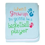 Kids Future Basketball Player baby blanket