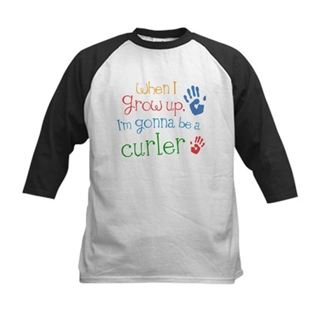 Kids Future Curler Kids Baseball Jersey