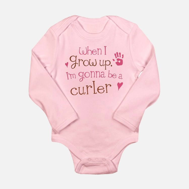 Kids Future Curler Long Sleeve Infant Bodysuit