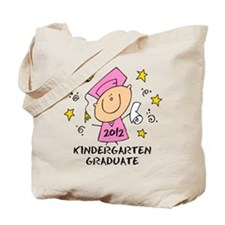 Cute Girl Kindergarten Grad 2012 Tote Bag