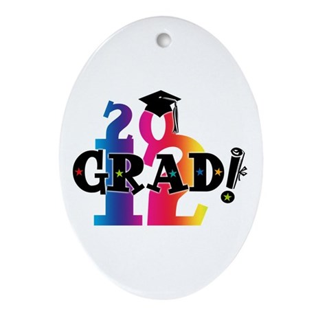 Star Grad 2012 Ornament (Oval)