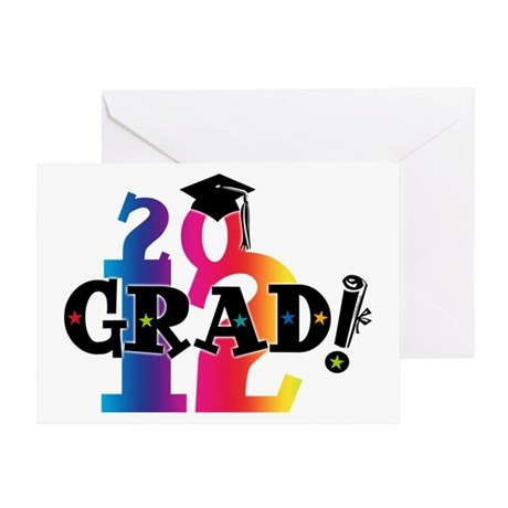 Star Grad 2012 Greeting Card