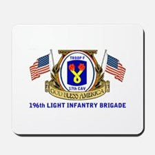 TROOP F, 17th CAVALRY Mousepad