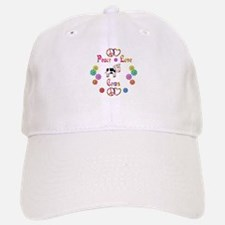 Peace Love Cows Baseball Baseball Cap