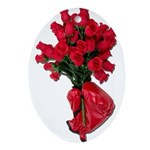 Tough Love Roses Ornament (Oval)