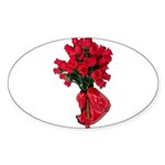 Tough Love Roses Sticker (Oval 50 pk)