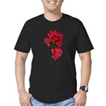 Tough Love Roses Men's Fitted T-Shirt (dark)