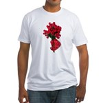 Tough Love Roses Fitted T-Shirt